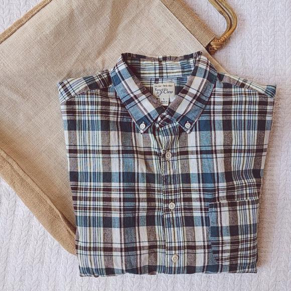 3e5db225 J. Crew Shirts | J Crew Mens Indian Madras Plaid Cotton Ls Shirt L ...